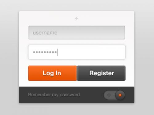 ユーザー ログイン無料の PSD ファイル