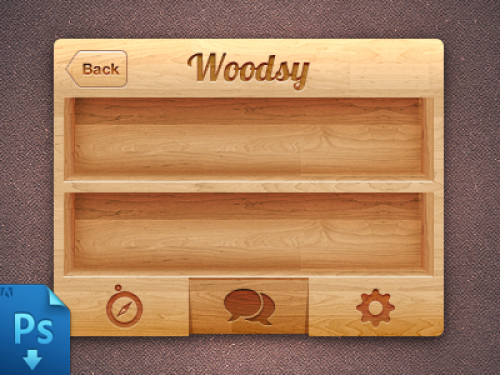 iPhone 木製 UI PSD 景品