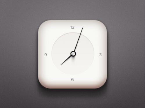 簡単な時計のアイコンを psd ファイル