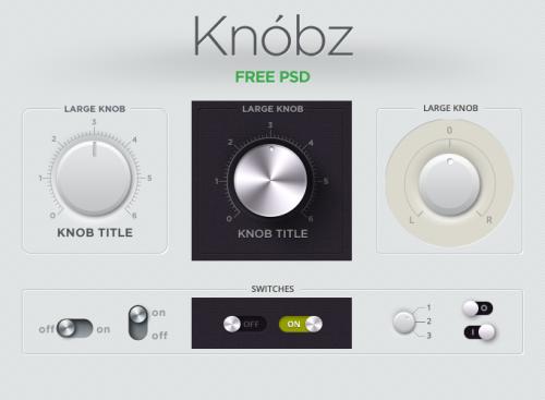 Knobz UI キット無料 psd ファイル