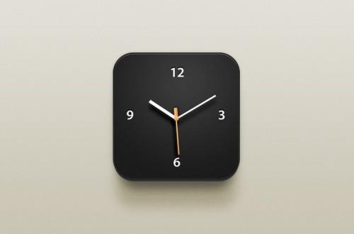 時計 iOS アイコン PSD ファイル