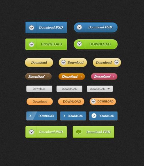 ボタン無料の PSD ファイルをダウンロードします。