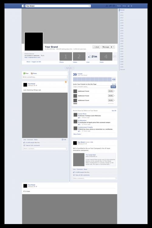Facebook のブランド ページ PSD モックアップ
