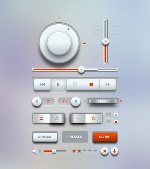 軽快な音楽プレーヤー UI デザイン キット PSD