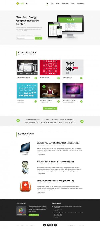 シンプルな近代的なきれいな多目的ウェブサイトの PSD テンプレート