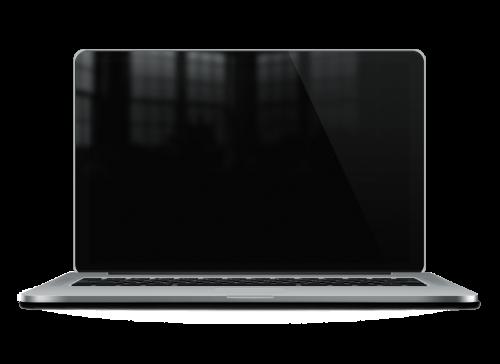光沢の Macbook Pro 網膜モックアップ PSD