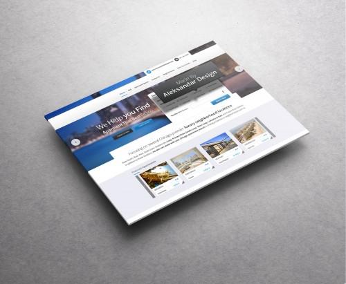 旅行予約サイト PSD テンプレート
