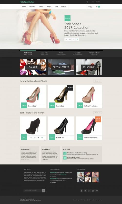 きれいな e コマース ショッピング サイト PSD テンプレート