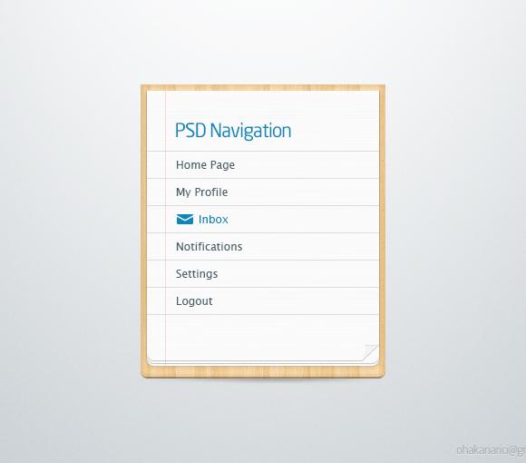 ナビゲーション リスト psd ファイル - Freebiesbug