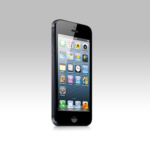 iPhone 5 の PSD のモックアップ
