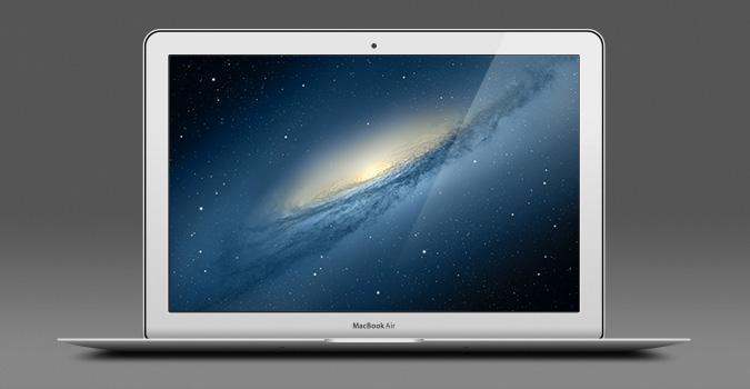 Apple 13 インチの MacBook Air の psd ファイル