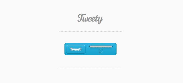 トゥイー ティー - 創造的なつぶやきボタン CSS