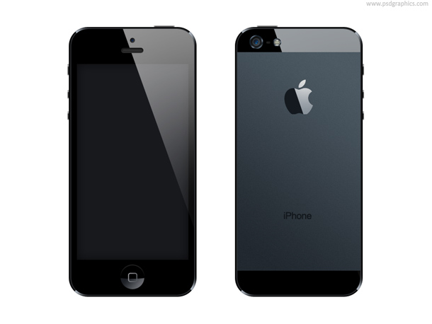 iPhone 5 PSD 形式