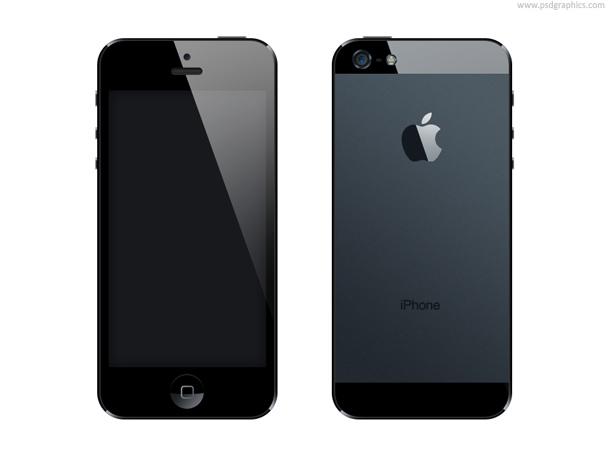 iPhone 5 PSD 形式