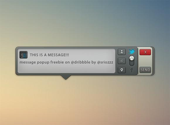 メッセージ ポップアップ無料の PSD