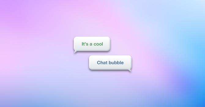バブルのチャット