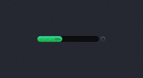 シンプルな psd ファイルの進行状況バー