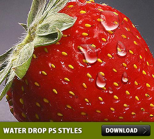 水ドロップ無料 Photoshop のスタイル
