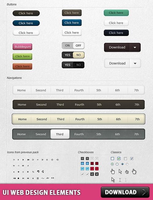 UI の Web デザイン要素無料 psd ファイル
