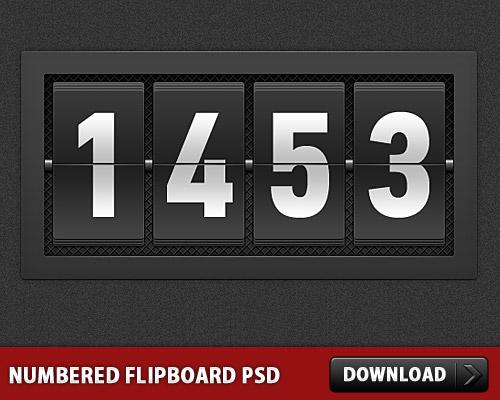 番号付きの Flipboard PSD
