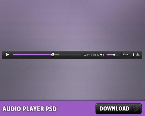 オーディオ プレーヤー無料 psd ファイル