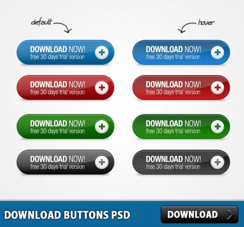 ボタンの psd ファイルをダウンロードします。