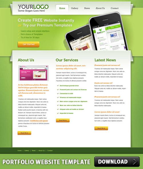 PSD のポートフォリオ サイト テンプレート