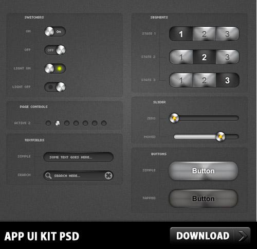 アプリ UI キット PSD