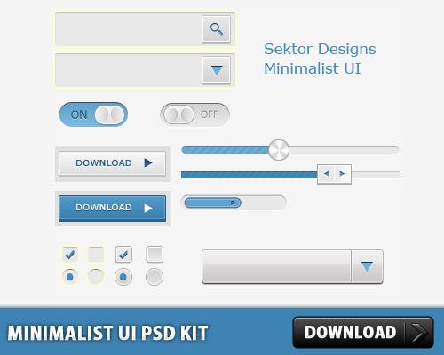 シンプルな UI PSD キット