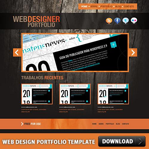 Web デザインのポートフォリオ テンプレート psd ファイル