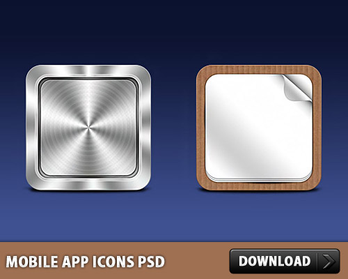 無料 PSD の携帯アプリのアイコン