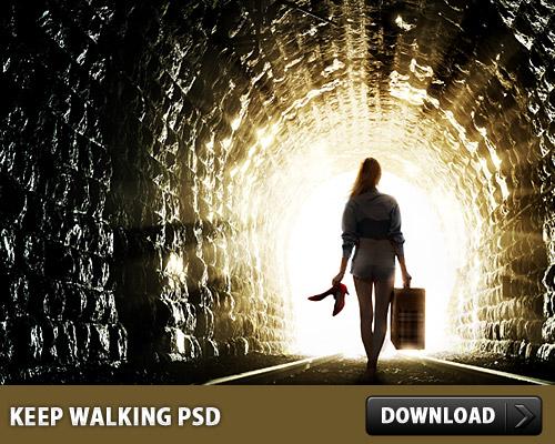 無料の PSD を歩き続ける