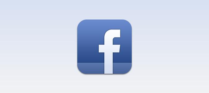 IOS の Facebook PSD アイコン