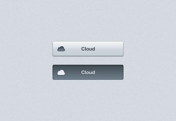PSD 雲ボタン