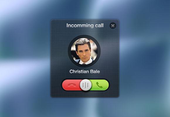 着信呼び出しのポップアップ無料の psd ファイル