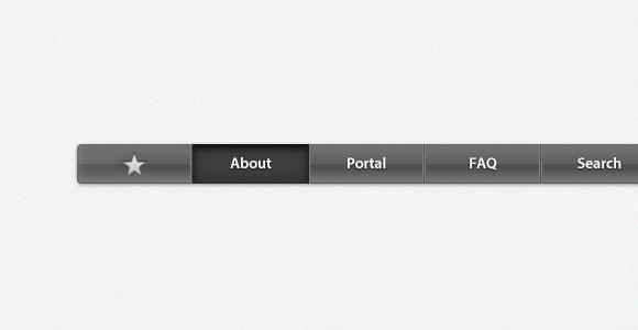 アップルのナビゲーション バーの psd ファイル