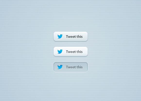 さえずりテンプレート無料 psd ファイルTwitter「さえずるこの」PSD ボタン
