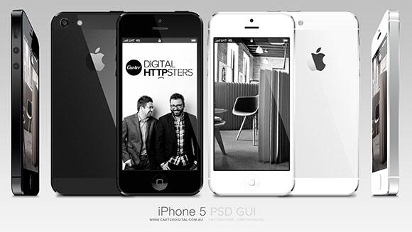 iPhone 5 GUI ベクトル パックします。