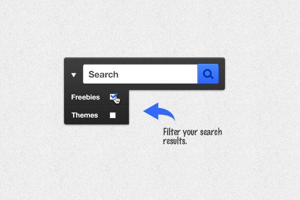 検索ボックス無料 psd ファイル