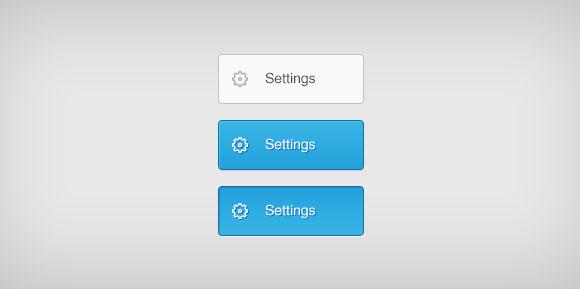 単純な特大 PSD ボタン