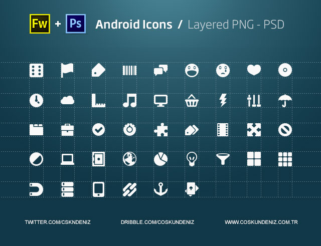 Android のアイコン - PNG、PSD、図形