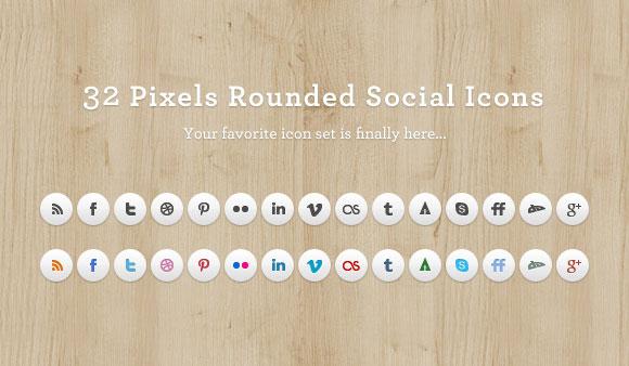 型の要素の組み合わせのアイデアに基づくPNG の丸みを帯びたソーシャル メディア アイコンを設定します。