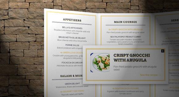 3 D のレストラン メニューのコンセプト HTML/CSS