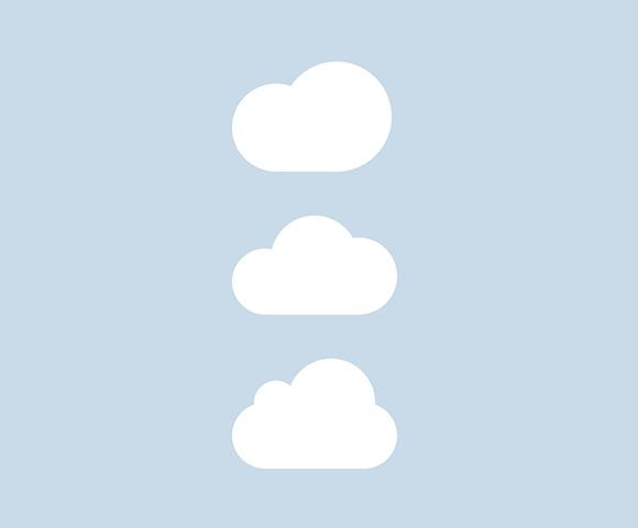 CSS の雲