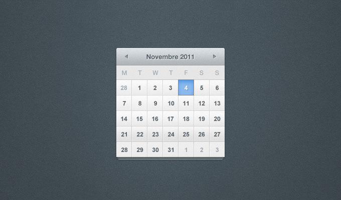 PSD カレンダー