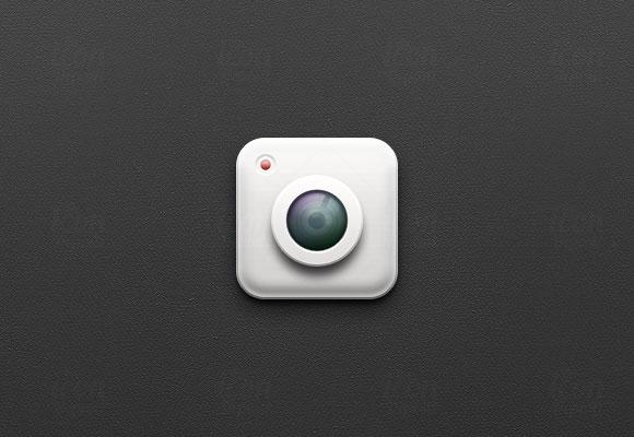 iOS カメラ アイコン PSD