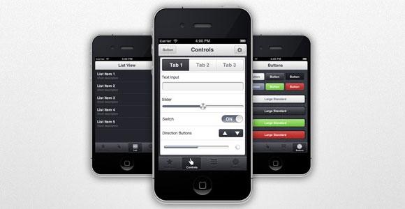 AppView: iPhone アプリ UI テーマ無料 psd ファイル
