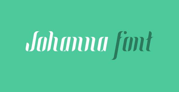ヨハンナのフリー フォント