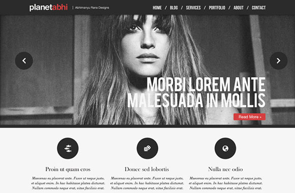 デザイン スタジオ PSD のウェブサイト テンプレート
