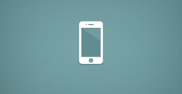 なめらかな iPhone PSD モックアップ
